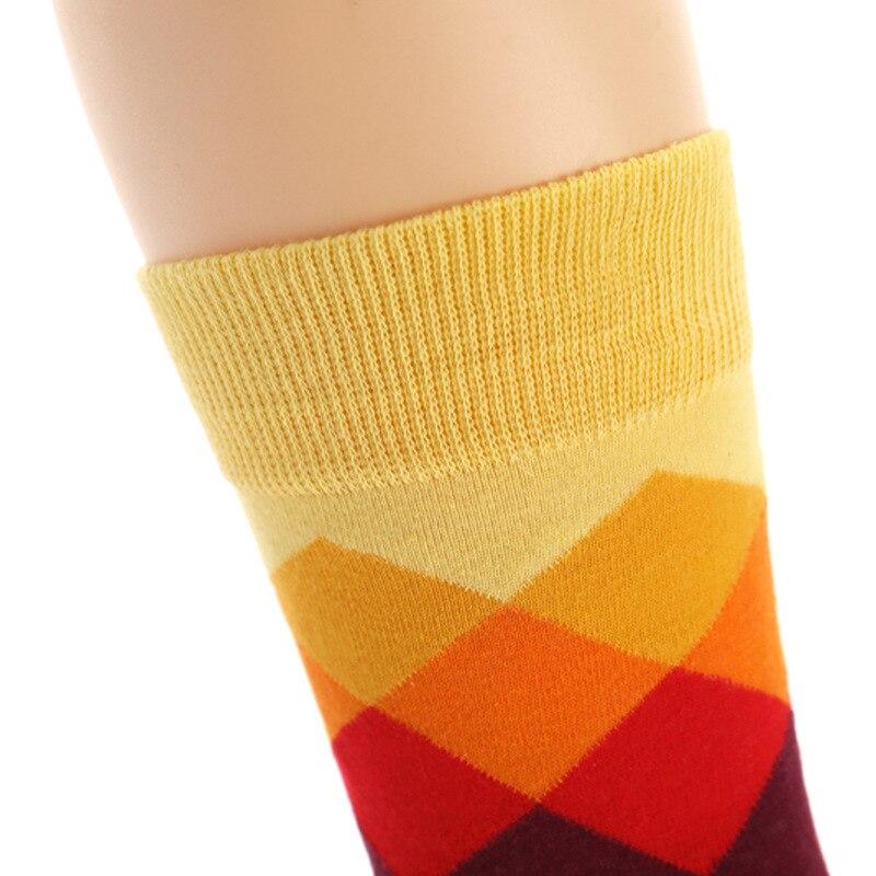 High Quality Socks for Men Stockings Colour Diamond Socks English Style Cotton Socks Funny Socks Mens Gifts in Men 39 s Socks from Underwear amp Sleepwears