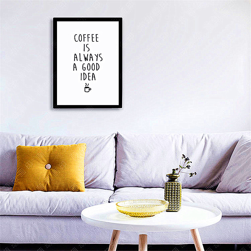 Cotill Coffee Is Good Idea Canvas Painting Home Decor Canvas Art ...