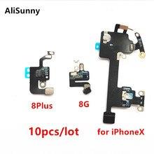 AliSunny 10pcs Cavo Della Flessione di Wifi per iPhone 8 Più XR X XS Max 8G Wi Fi Antenna Ricevitore di Segnale ribbon Parti di Ricambio
