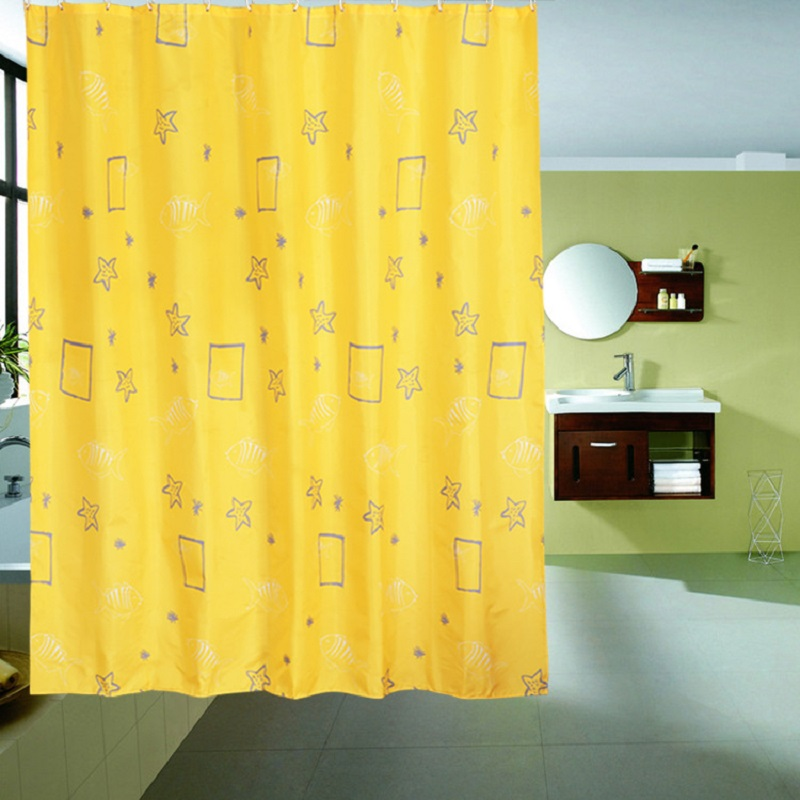 High Quality Shower Curtain Blue Pink Yellow Bathroom Curtain Floral,Star  Pattern Shower Curtain Waterproof Bathroom Curtains In Shower Curtains From  Home ...
