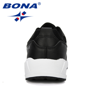 Image 3 - Мужские классические кроссовки BONA, уличные спортивные дышащие кроссовки из коровьего спилка для бега, прогулок и занятий спортом, 2019