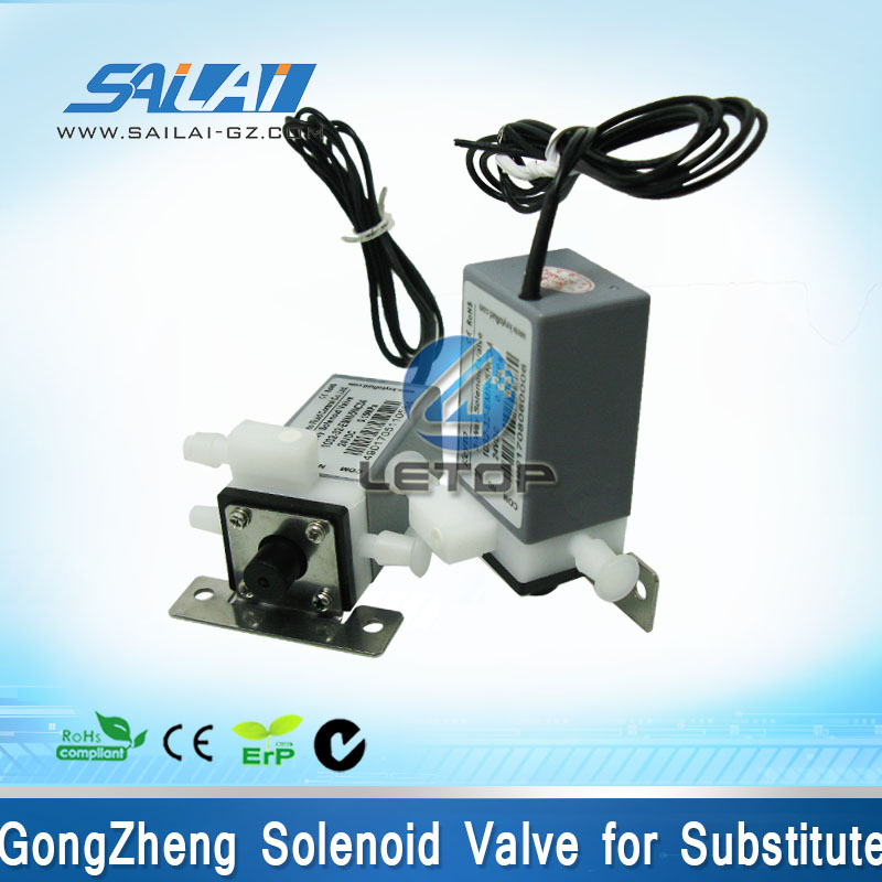 Hot sales!! inkjet printer 3 way solenoid valve 24v for gongzheng printer spectra skywalker pci card for gongzheng printer