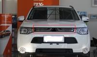 Front Stoßstange oberen kühlergrill grill einfügen Kühler für Mitsubishi Outlander 2013 2014 1PC