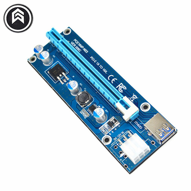 Wholesale USB 3.0 PCI-E Express 1X 4x 8x 16x Extender Riser Adapter Card SATA 15pin Male to 6pin Power Cable 10pcs/lot 006C