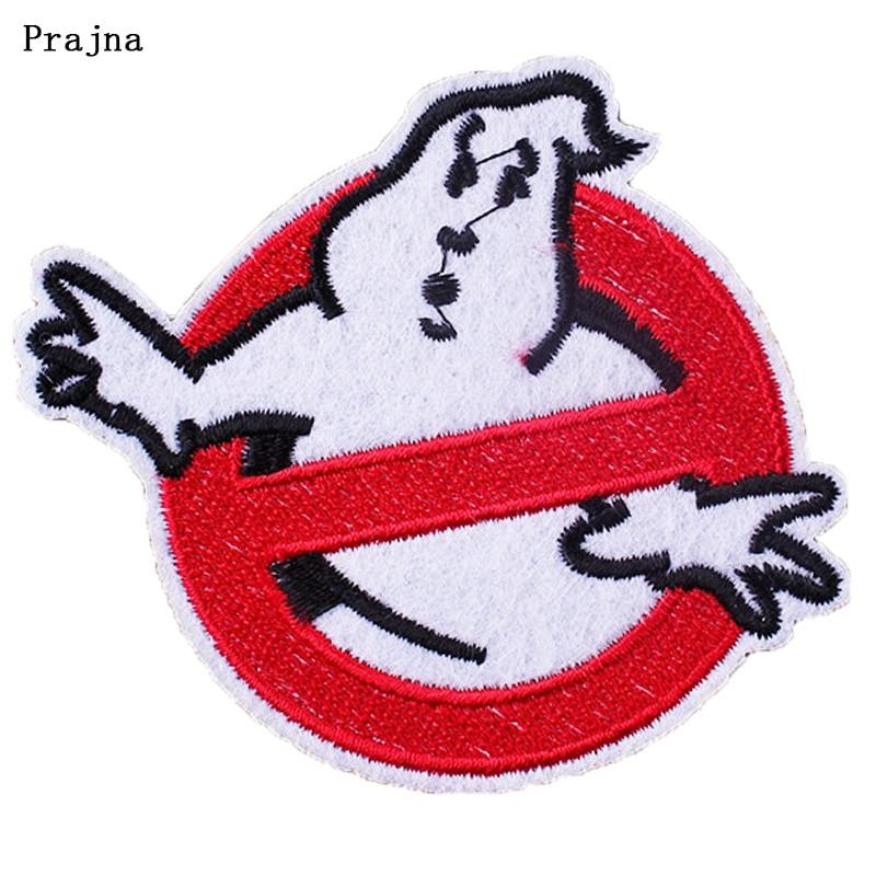 Prajna DIY Bordado Ferro Em Ghost busters Ghostbusters Patches para Roupas Etiquetas Para O Dia Das Bruxas Atacado Acessório Decoração H
