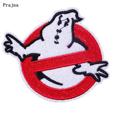 Prajna DIY Embroidered Iron On Ghost busters Patches to Clothes Stickers For Halloween Ghostbusters Wholesale Accessory Decor H