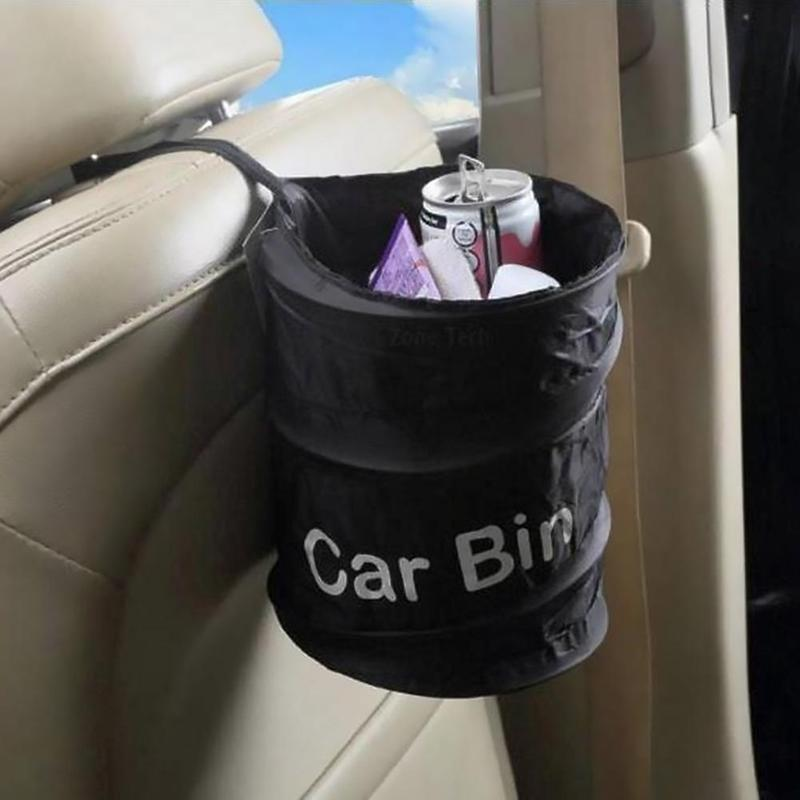 Creative Car Seat Back-hanging Trash Can Garbage Container Bag Trash Can Foldable Waste Bin Garbage Bags SQL7064