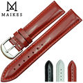 12MM 14MM 16MM 18MM 20MM Red  HQ  Genuine Leather Watch Band Strap Fashion Noble Ladies Patent leather Strap