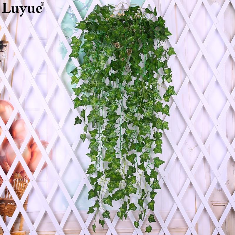 luyue green leaf artificial ivy leaf garland plants vine fake