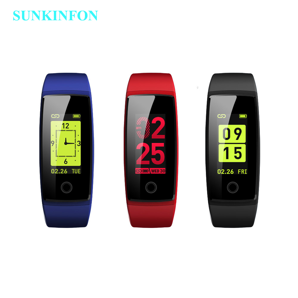 SV28 Colorful Smart Wristband Bracelet Activity Track Heart Rate Monitor Blood Pressure Smart Band for Google Pixel / Pixel XL