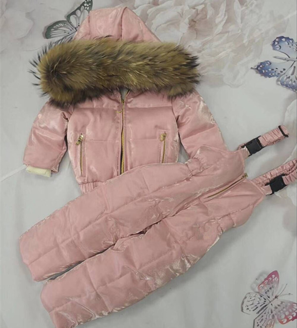 Baby Girls Clothing Winter Jackets For Girls Overalls Children's Winter Coat Hooded Warm Fashion Winter Suits For Girls 1-8Years