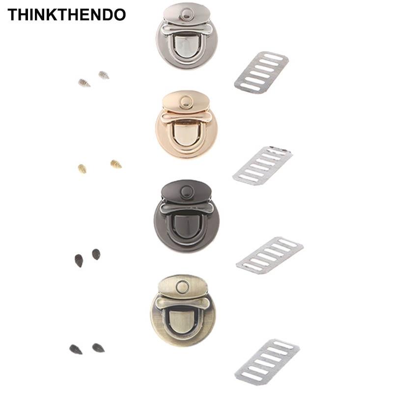 Metal Round Shape Clasp Turn Lock Twist Lock For DIY Handbag Bag Purse Hardware
