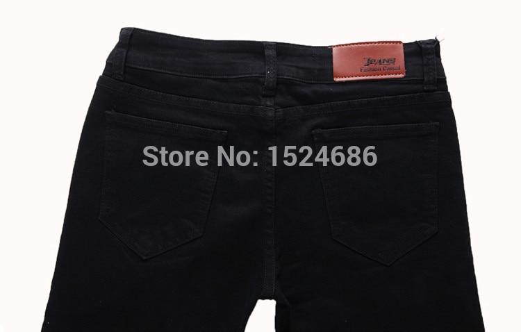 Fit 27 Mode Hommes Black Arrivée Qualité 36 Nouvelle Taille Pour 919 Haute Classique 2015 Pantalons Denim Stretch Jeans Noir Slim Casual TIwZn74Rq