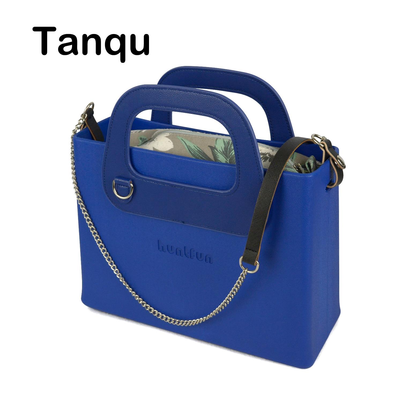 Bagaj ve Çantalar'ten Üstten Saplı Çanta'de Yeni O çanta tarzı huntfun silikon kare EVA çanta kadın çanta deri dikdörtgen kolu Crossbody omuzdan askili çanta zincir ekle'da  Grup 1