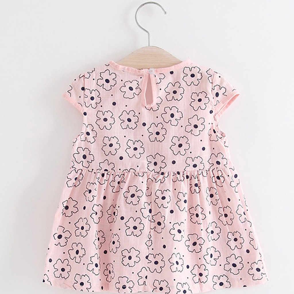TELOTUNY אופנה לפעוטות ילדים תינוקת פרחוני טלאים מקרית נסיכת מסיבת שמלת בגדי 2019 newst תינוק שמלת Z0208