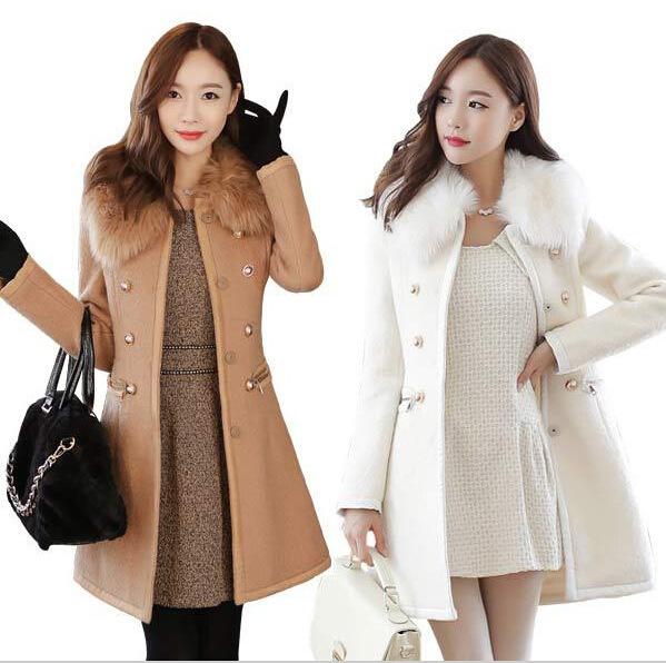 new Long Autumn Winter Coat Women Wool Blends Coats Female Jacket Winter Woman Coat Warm Windbreaker Abrigos Mujer Wool Women 7