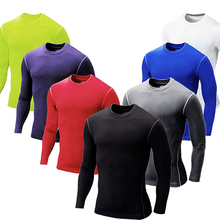 New Arrival Men Boy Compression Base Layer Tight Top Shirt Under Skin Long Sleeve Gear