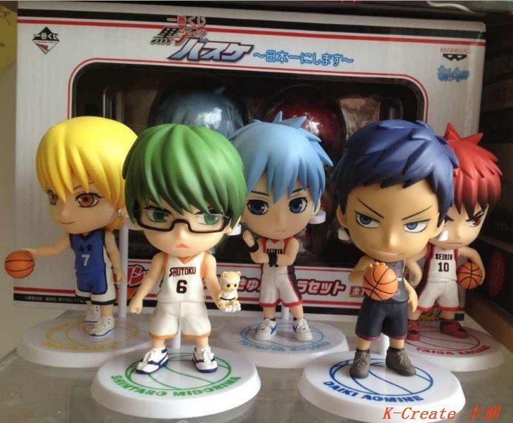 ФОТО Free shipping newest 5pcs The basketball which Kuroko plays pvc figure toy tall 8cm set.5pcs/set Q version Kuroko plays figure