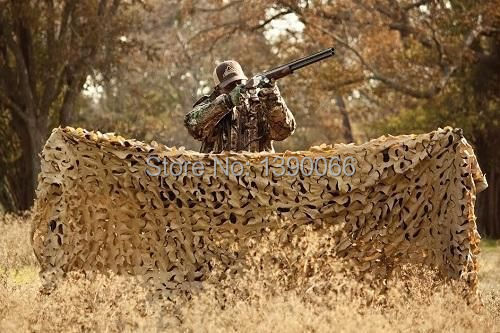 2.5X5M Military Photography  Desert Camouflage Net cover Sun Shelter hiding equipment for Autumn hunting Camping
