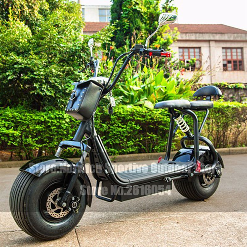Citycoco Electric Scooter Adult Fat Tire 1000W Lithium 12AH Motor E-Bike Motorcycle Lifestyle Bicycle Bike Electric Scooter electric bicycle 72v 1000w seven generations zuma electric motorcycle green environmental protection electric vehicles tb330907