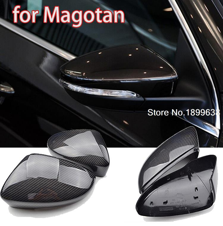 1:1 Replacement Carbon Fiber Rear View Mirror Cover car styling For Volkswagen VW Magotan 2012 2013 2014 2015 for ford mustang 2008 2009 2010 2011 2012 2013 add on style carbon fiber rear view mirror cover black finish