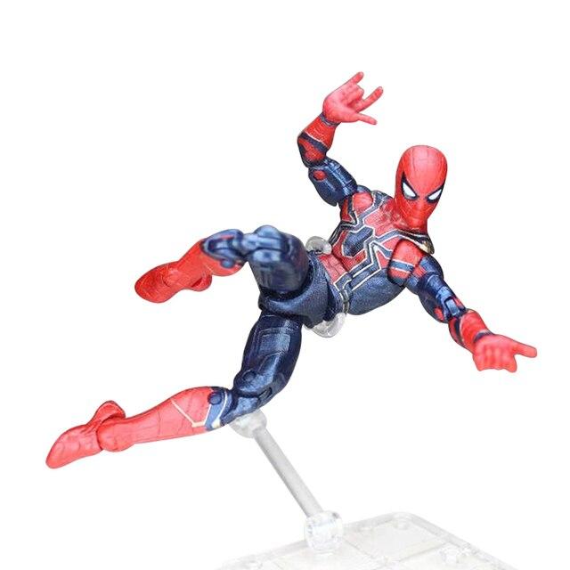 Infinito Guerra Deadpool Marvel Avengers Black Panther de Ferro Figura De Ação Do Homem Aranha Homem Aranha Brinquedos Modelo para o Presente de Natal