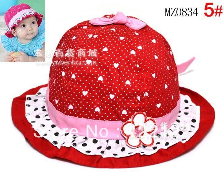 Winter Ear Protector Knitted Hats For Boy/girl/kits Hats,infants Caps Beanine Chilldren- The Rabbit And Colorful Dotmz0834-5pcs