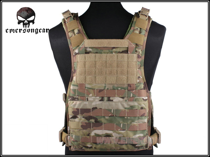 ФОТО EMERSON MOLLE RRV Vest Back Panel Tactical Vest Airsoft Military Combat Gear Hunting Paintball Vest Panel Plate Carrier EM7444 ^