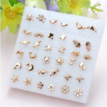18 Pack Earrings Set Stud Earring For Woman Party Jewelry S Allergy Free Best Gift Pairs Setx5set 7 8 In From