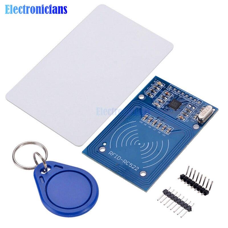 Беспроводная Антенна rfid-ic для Arduino, RC522, 13,56 МГц, с ключом IC, SPI, считыватель и Карта IC, модуль приближения