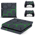 Vinly Skin Sticker of Black Grid Vinyl Cover Decal PS4 Skin Sticker for Sony Play Station 4 Console & 2 Controller Skins