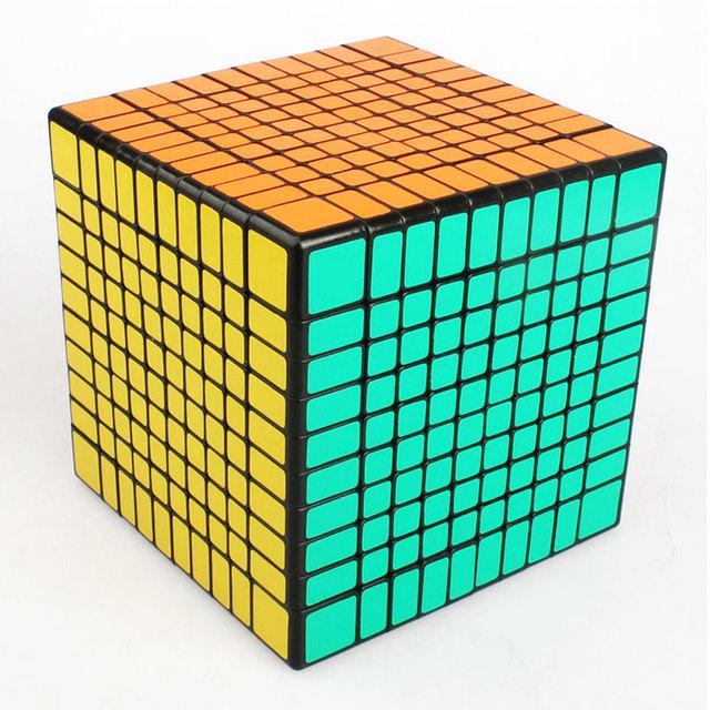 Shengshou 10x10x10 Puzzle Cubo de la Velocidad 10x10 Cubo Mágico Profesional 10.2 cm sinuoso Juguetes Educativos