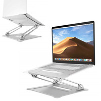 Laptop Stand Height Adjustable Aluminum Laptop Riser Holder Portable Ergonomic Notebook Mount Up to 17'' for MacBook Air Pro