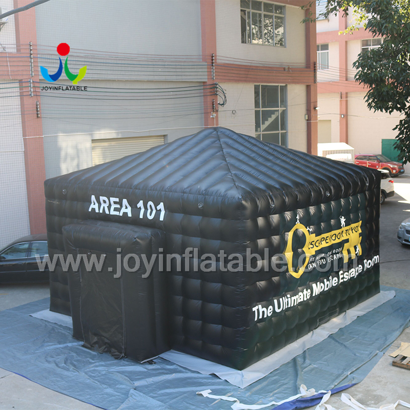 Надувная палатка черного цвета со светодиодной подсветкой для вечеринки - 3