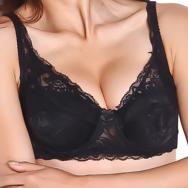 ea84b986868e6 Sexy Lace Bra Women Strappy Bralette Black White Underwire Brasier Mujer  Red Pink Lace Top Mesh Bra Push Up Bras for Women