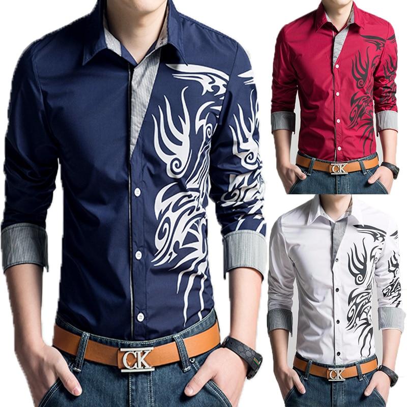 GemäßIgt Männlichen Tops Weiß Männer Hemd 2016 Marke Langarm Herren Shirts Camisa Sozialen Masculina Casual Shirts 4xl Gut Verkaufen Auf Der Ganzen Welt Herrenbekleidung & Zubehör
