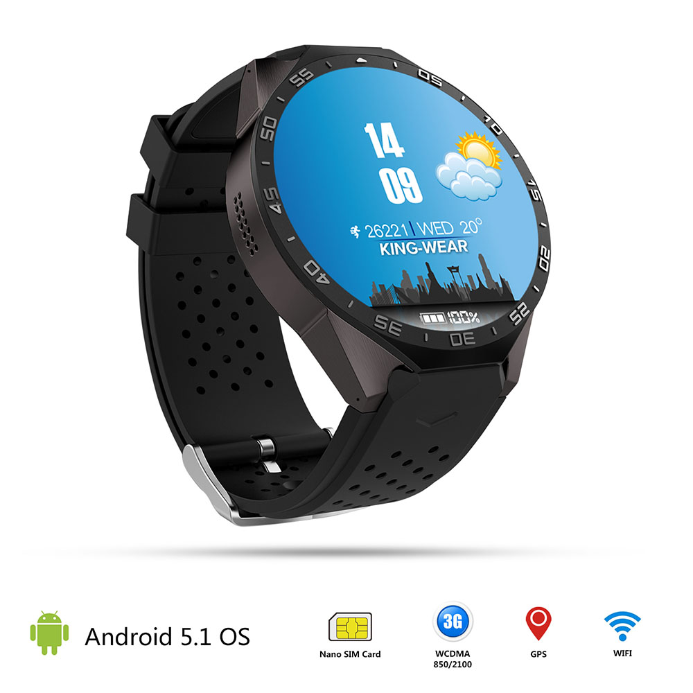 цены Smartch kw88 Android 5.1 Smart Watch 512MB + 4GB Bluetooth 4.0 WIFI 3G Smartwatch Phone Wristwatch Support Google Voice GPS Map