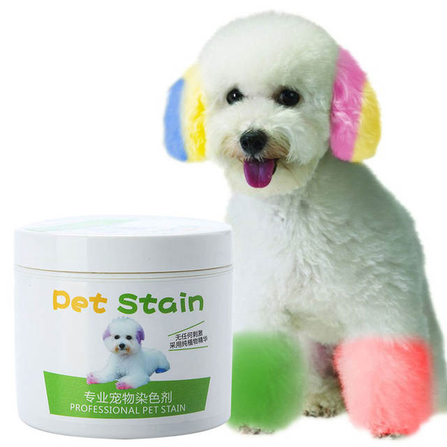 1Pc 100ml Professional Hair Dye Gel for Dogs Pet Stain Anti Allergic Cat  Dog Hair Dye Cream Coloring Agent DIY dyeing wax