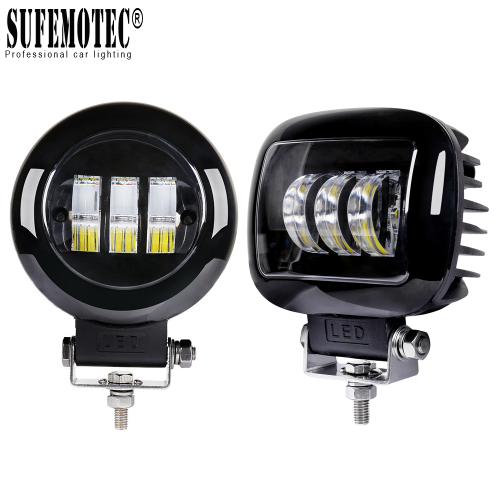 2Pcs 6D Lens 5 Inch Led Work Light 12V 24V For Cars Tractors Atv Suv Niva 4x4 Offroad Motorcycle Truck Flood Beam Driving Lights