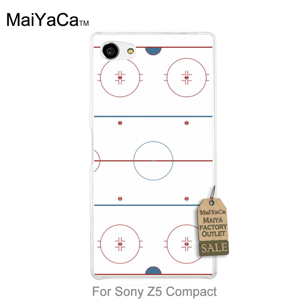Maiyaca phone accessories Store Luxury PC Hard Phone Case cover Ice Hockey Rink For   z5 Compact case