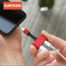 Suntaiho for lighting Adapter Headphone Adapter 2 in 1 for iPhone 7 8 Plus X Charger Splitter Adapter for lighting Dual 8pin