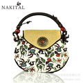 Cotton Linen Handbags Canvas Ethnic Trend Embroidery Shoulder Bags Women Handmade Flower Large Travel Bag