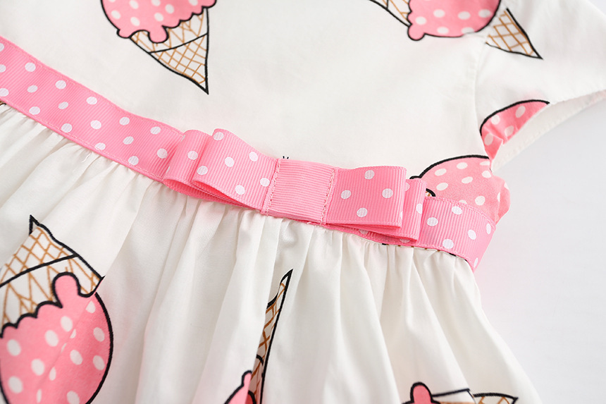 HTB1MNe5SXXXXXbaXXXXq6xXFXXXO - Dulce Amor Summer Cute Girls Dress Kids Baby Girls Clothes Short Sleeve Ice Cream Print Princess Dress Kids Dress For Girl