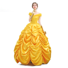 Adult Belle Beauty And The Beast Cosplay Movie Deluxe Golden Princess Dress Evening  sc 1 st  AliExpress.com & Buy hermione costume and get free shipping on AliExpress.com