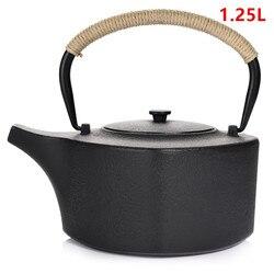 Gorąca sprzedaż żeliwny dzbanek do herbaty zestaw japoński czajniczek Tetsubin czajnik Drinkware KungFu narzędzia durszlak ze stali nierdzewnej czajnik do herbaty 1.25L Dzbanki do herbaty Dom i ogród -