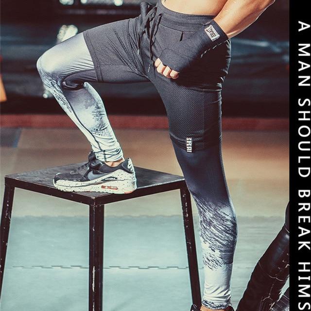 e01a0ac1c0a9f0 PRO men gym running basketball cycling pants abbigliamento running uomo  compression tights