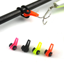 10PCS Multiple Color Plastic Fishing Rod Pole HooK Keeper Lure Spoon Bait Treble Holder Small Fishing Accessories