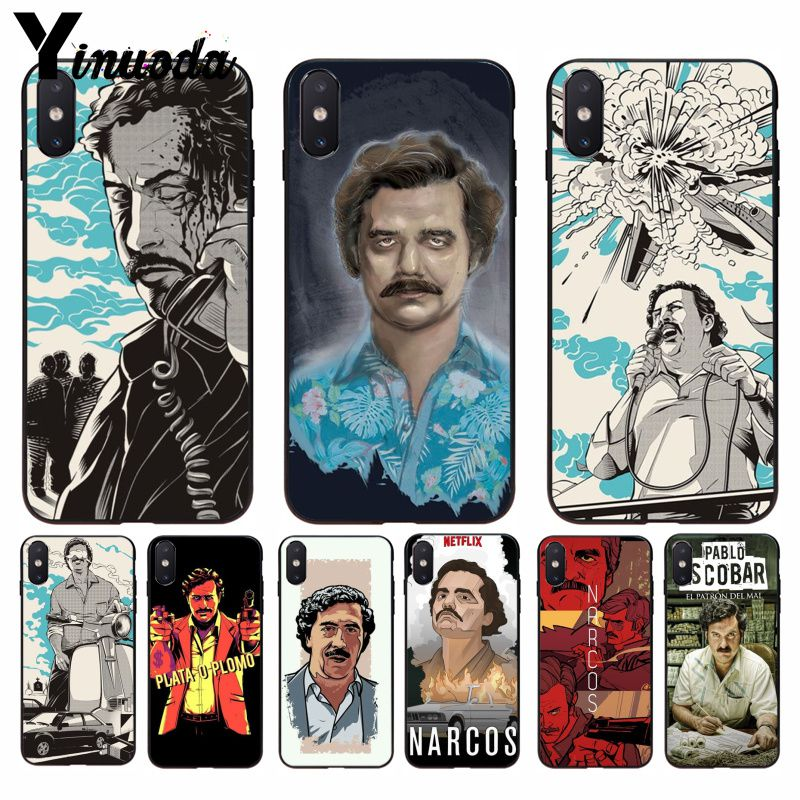 Yinuoda Narcos Tv Series Pablo Escobar Novelty Classic High-end Phone Case For Iphone 8 7 6 6s Plus 5 5s Se Xr X Xs Max Relieving Heat And Sunstroke Cellphones & Telecommunications Phone Bags & Cases