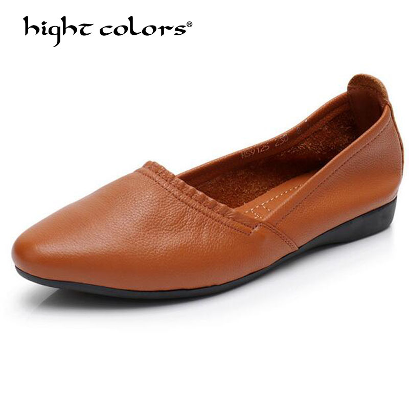 Women Ballet Flats Shoes Genuine Leather Slip on ladies Shallow Moccasins Casual Shoes Female Summer Loafer Shoes Women summer women ballet flats genuine leather shoes ladies soft non slip casual shoes flower slip on loafers moccasins zapatos mujer