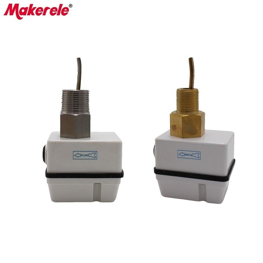 Commutateurs de débit de palette en laiton/inoxydable pour les pièces de climatiseur de capteur de débit de gaz/liquide AC 250 V 15A commutateur de débit liquide MK-FS01/2